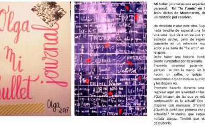 SECCIÓN MI BULLET JOURNAL. Muro del amor de  París