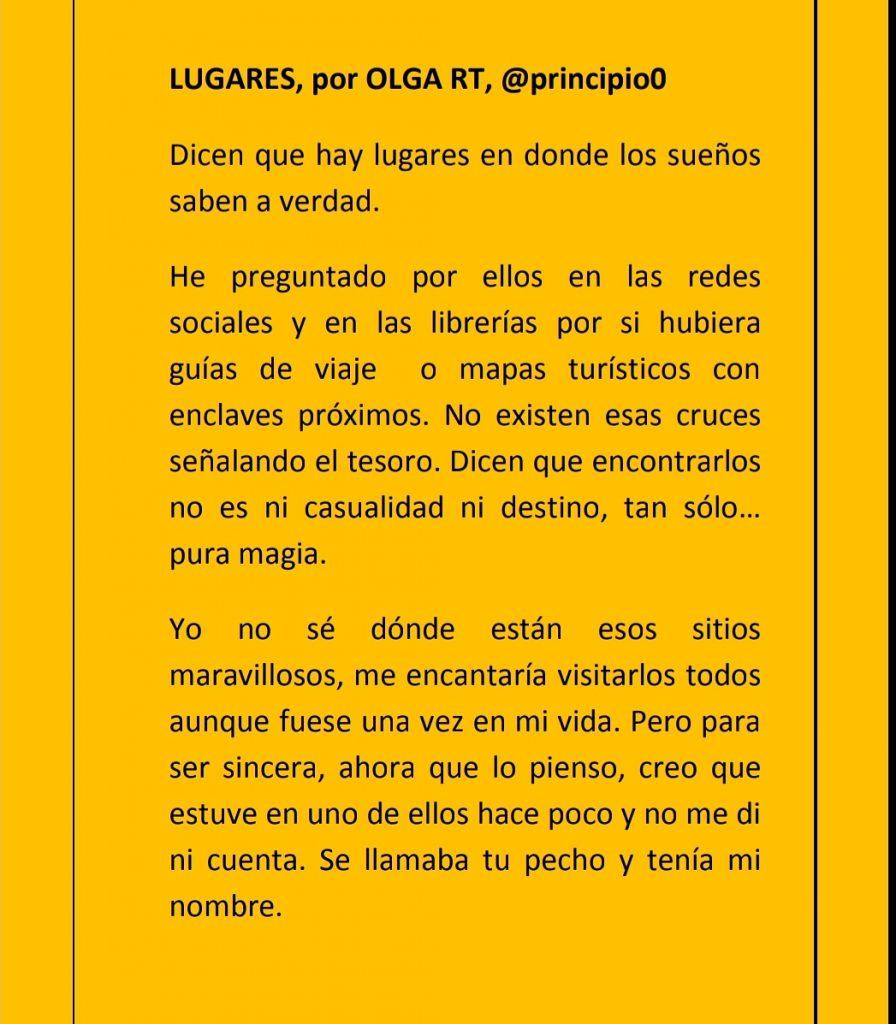 SECCIÓN HOY ESCRIBO: LUGARES.