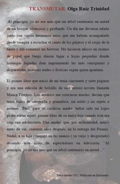 SECCIÓN HOY RECUPERO. TRANSMUTAR