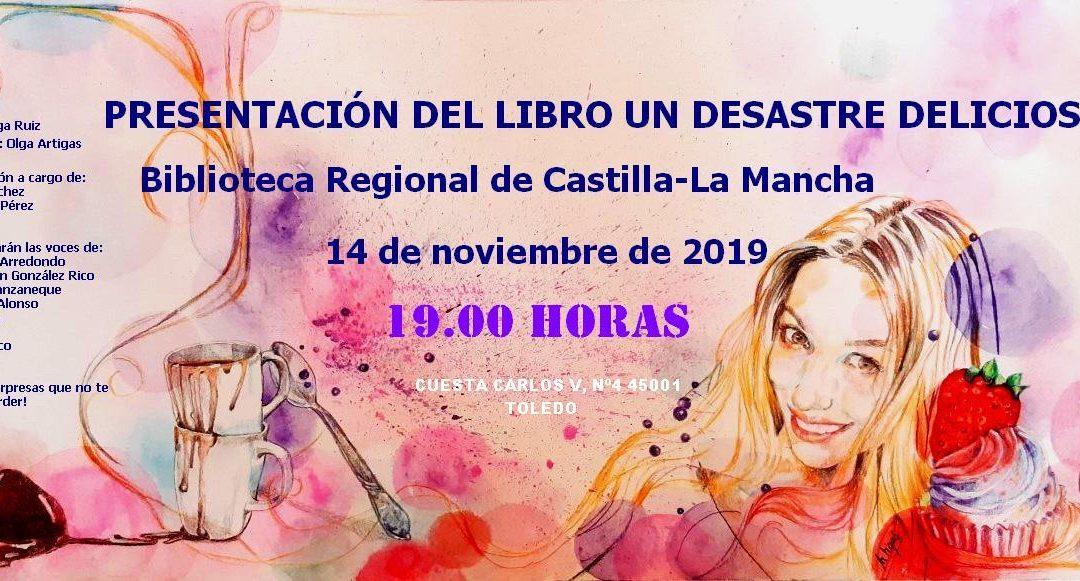 Presentación #1: 14-11-2019.  Toledo. Biblioteca Regional de Castilla-La Mancha.